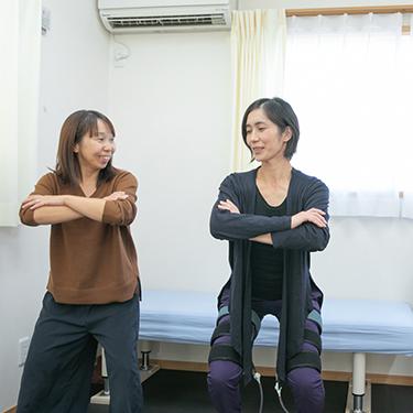 筋トレ(加圧)血管トレーニングの様子